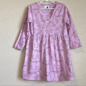 Cotton:On girls unicorn pink dress